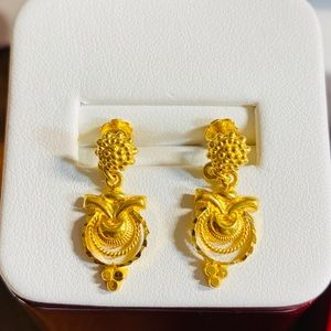 22K Fine 916 Gold Dangle Earring Firm Price‼️